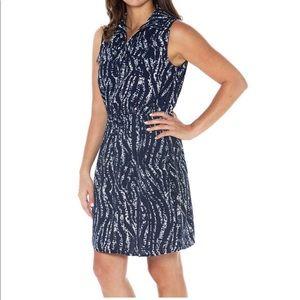 Dark Bleu Navy Printed Mario Serrani shirt  Dress